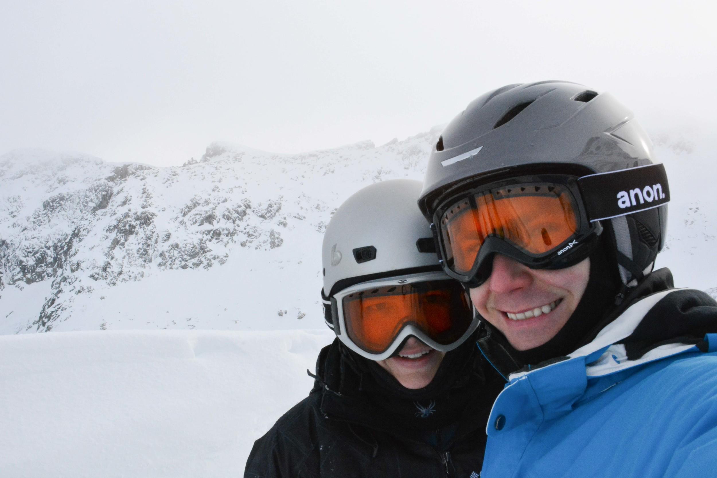 Anton and Larisa on top of Blackcomb
