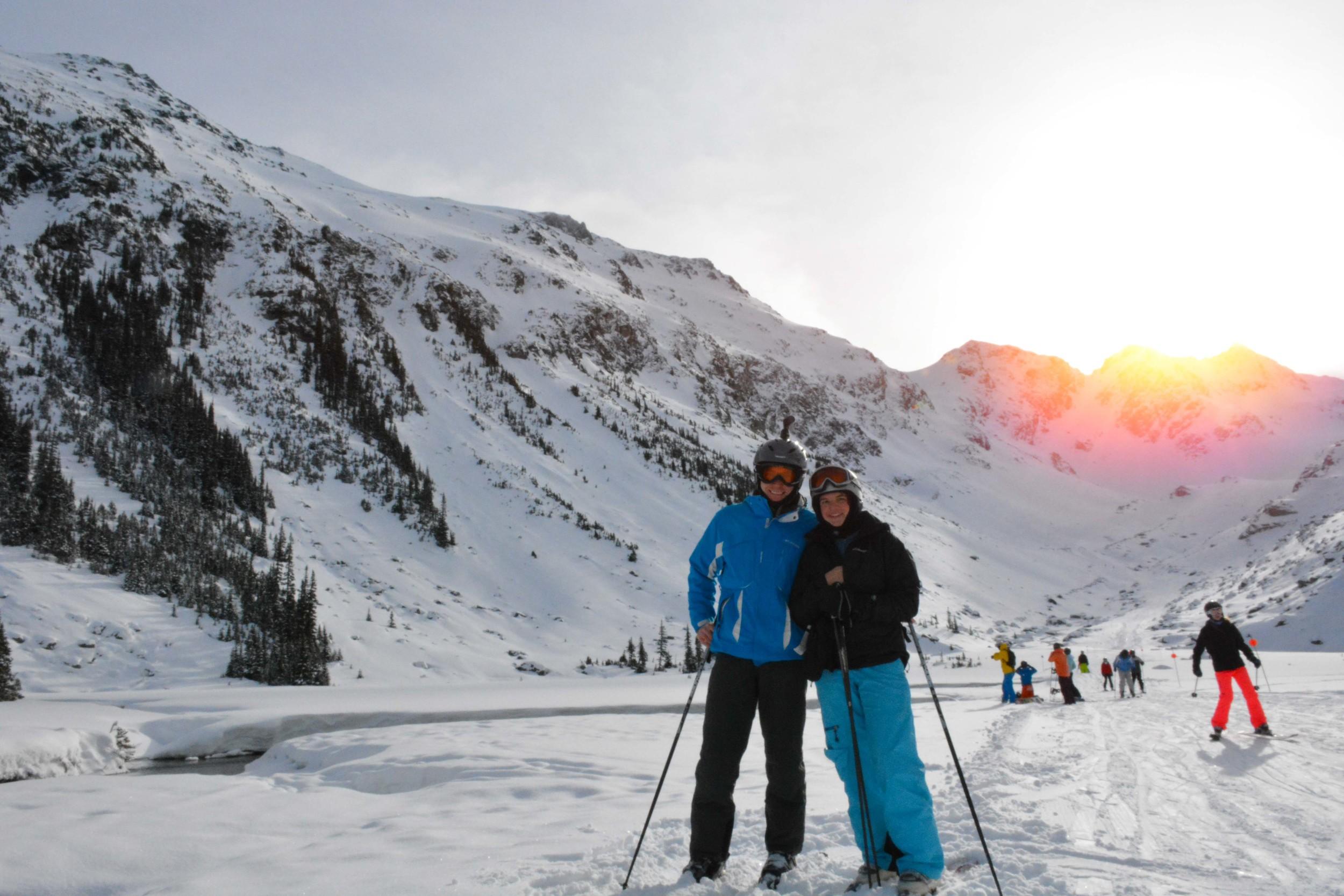Anton and Larisa in Blackcomb Glacier Valley