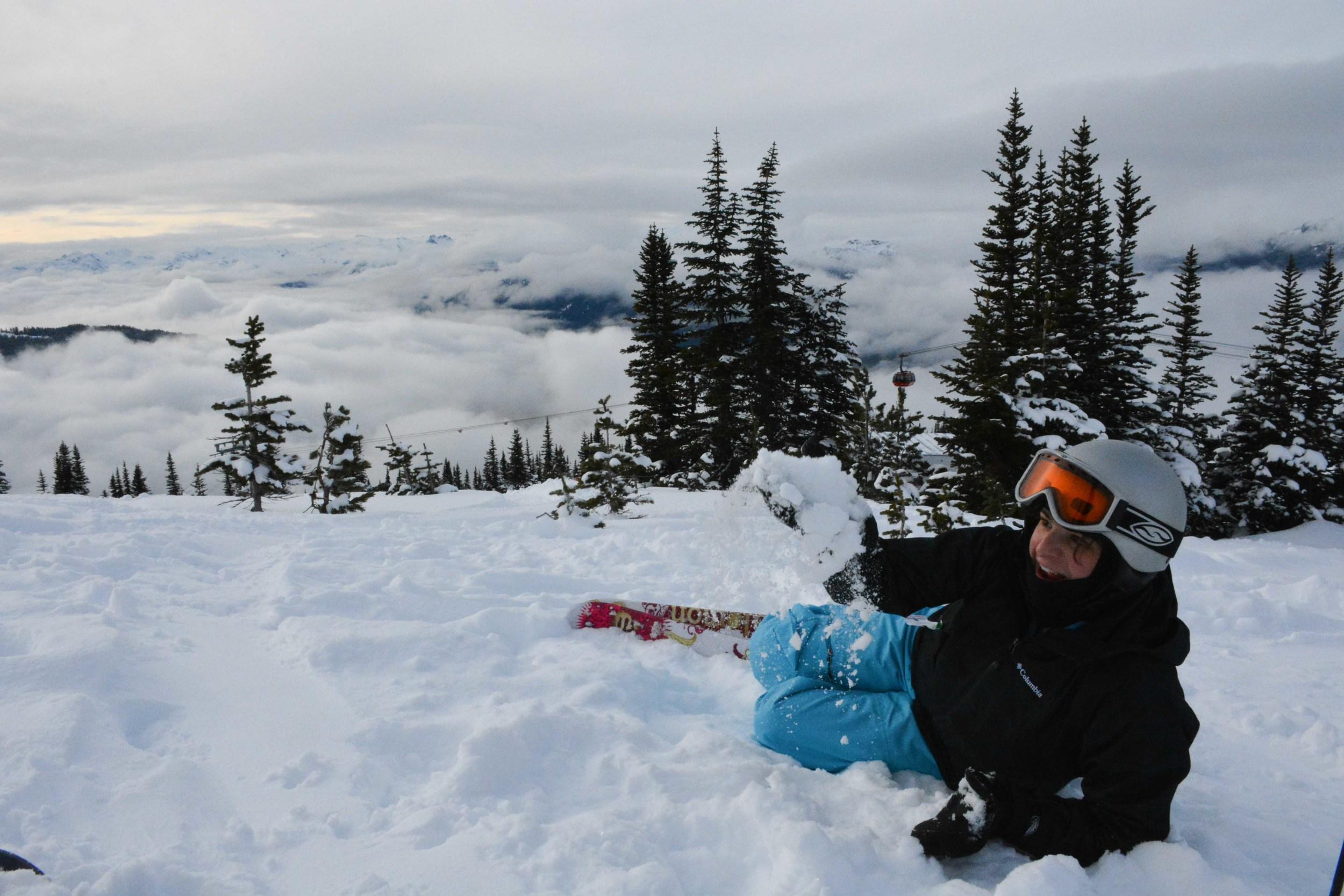 Larisa with Fluffy Snow