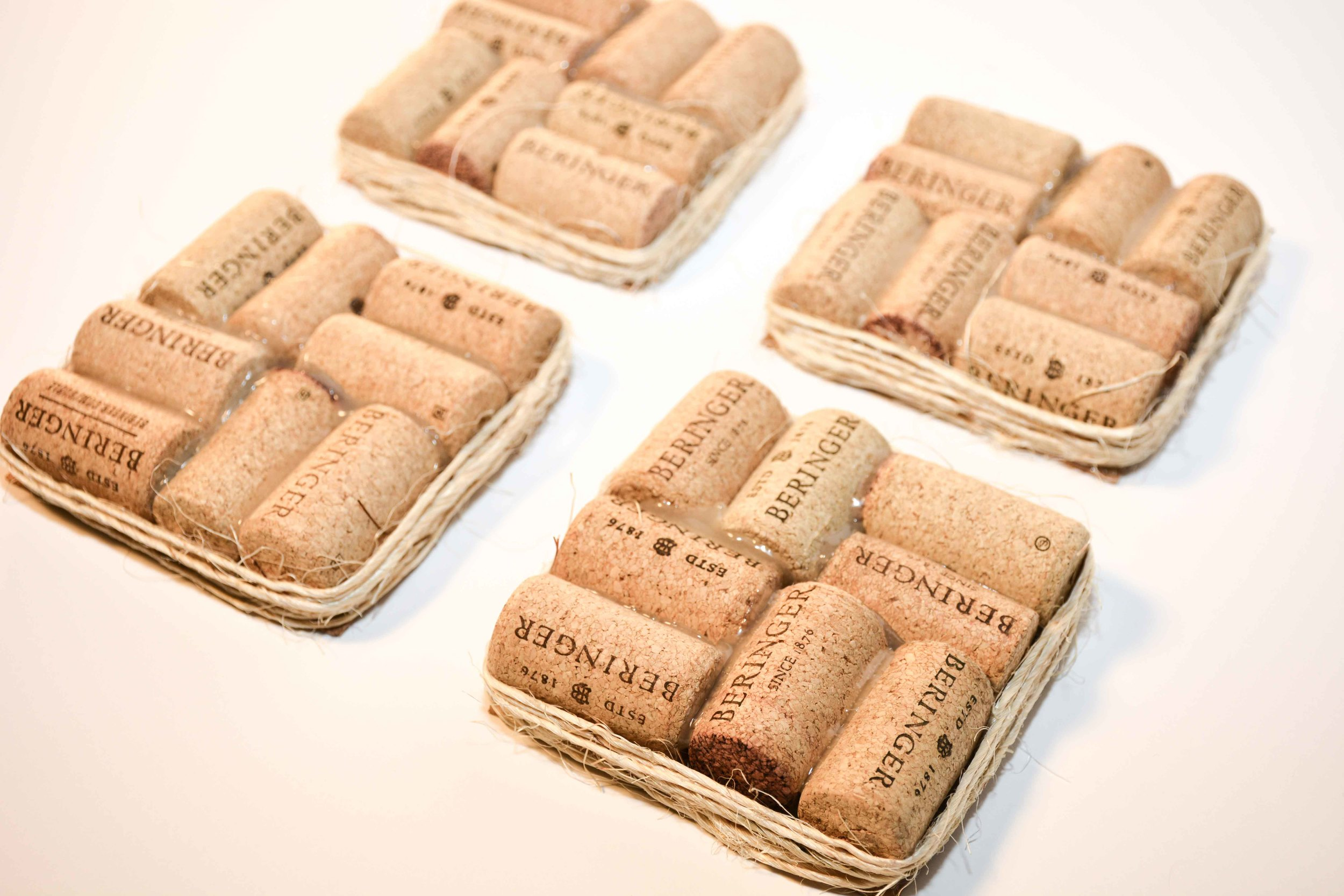 Wine Cork Coasters - Final Product