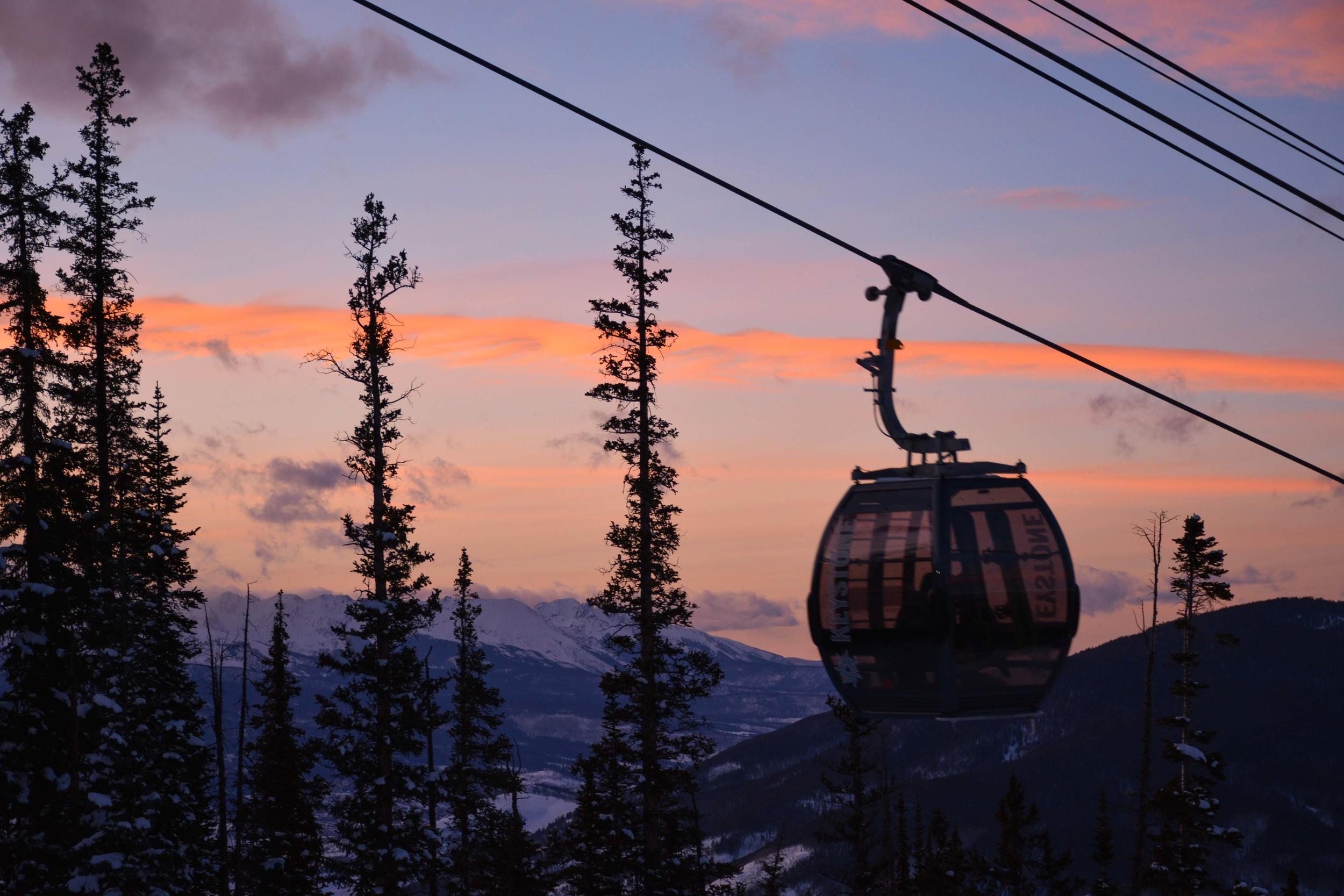 Evening Skiing at Keystone