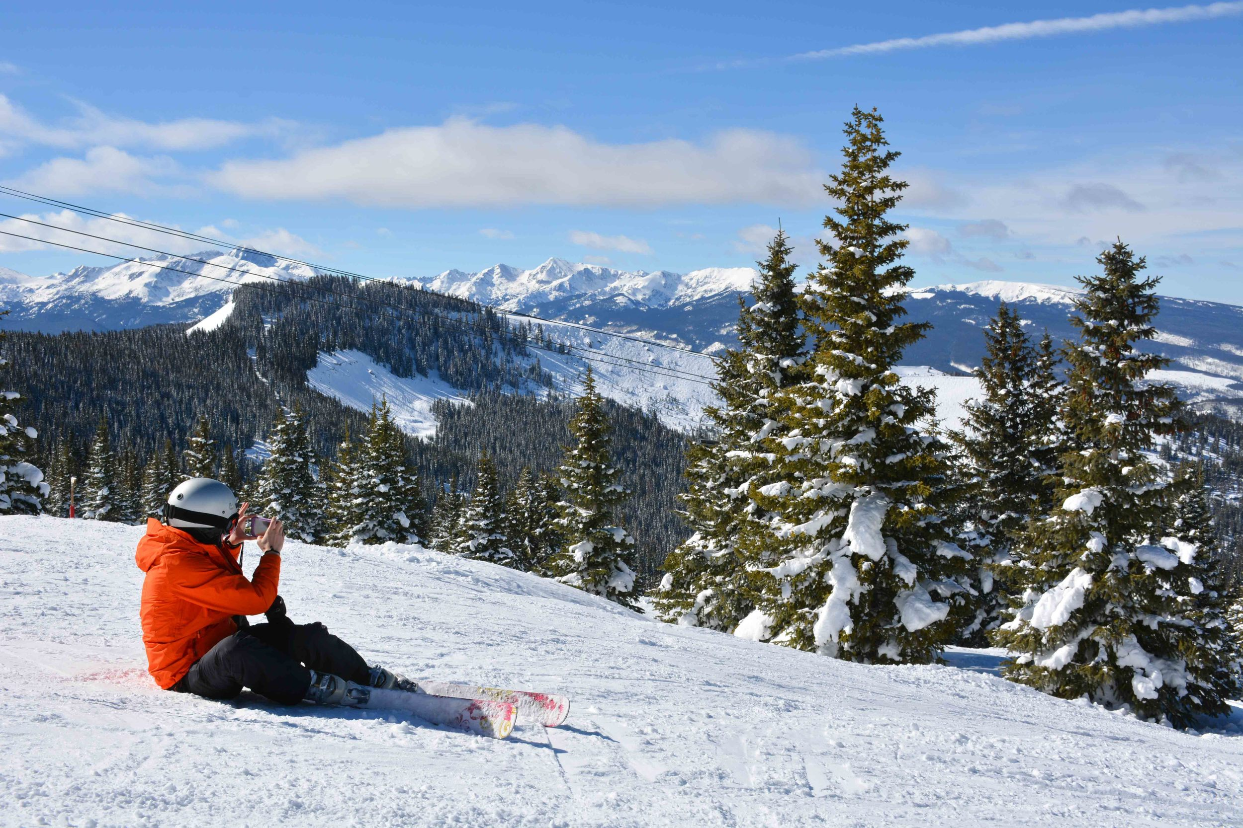 Taking in the view in Blue Sky Basin