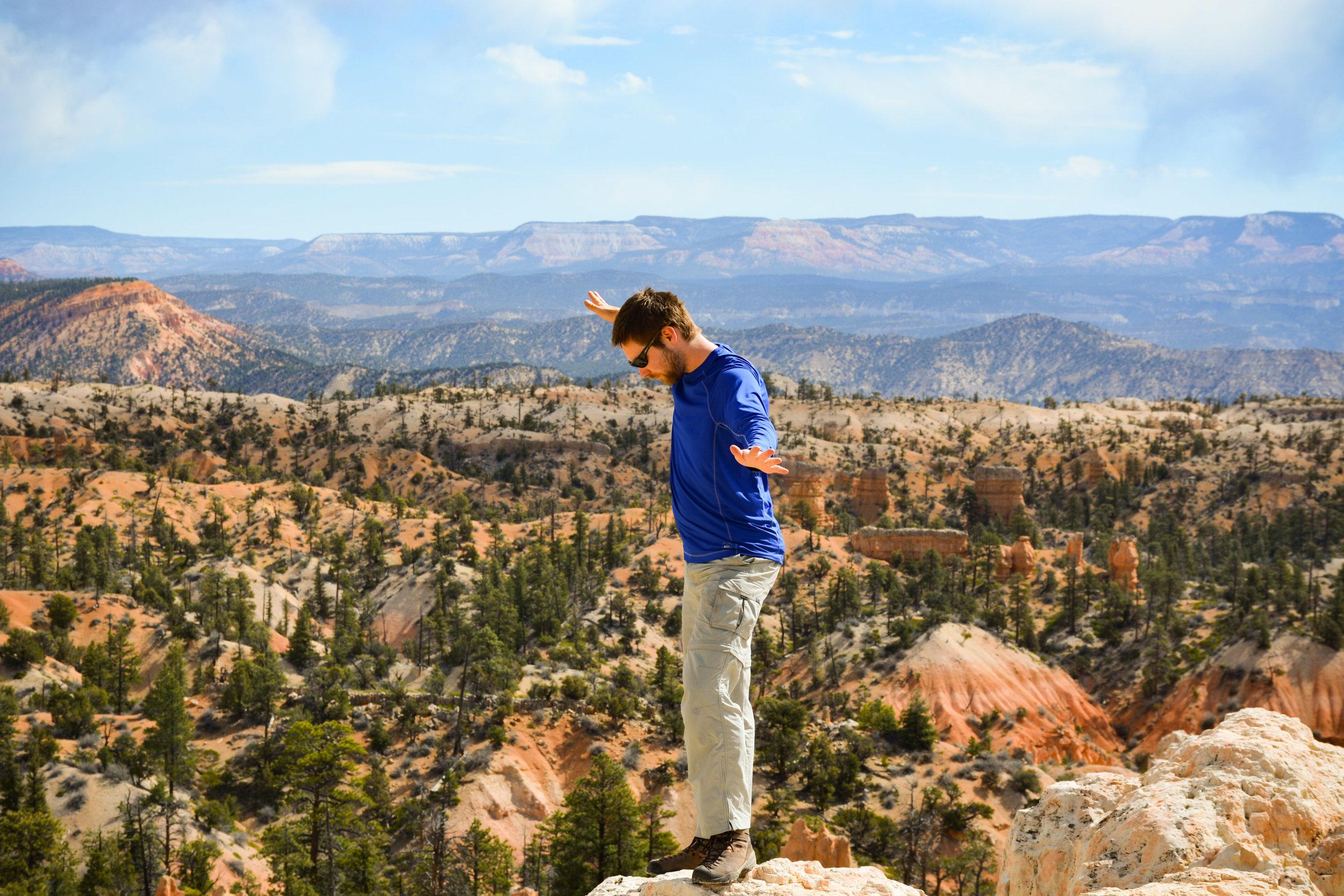 Anton hiking at Bryce Canyon National Park
