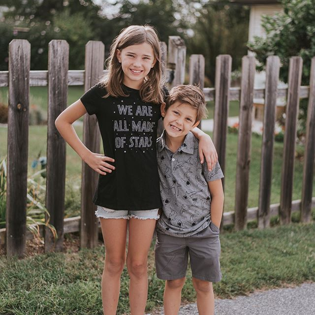 Love these crazies. They're both wild and old souled, and the adventure of raising them is the best one.  First day of 5th and 3rd.