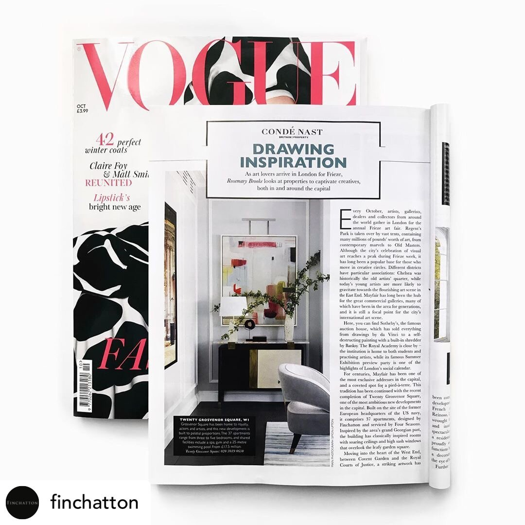 Painting featured in Vogue Oct issue 2019