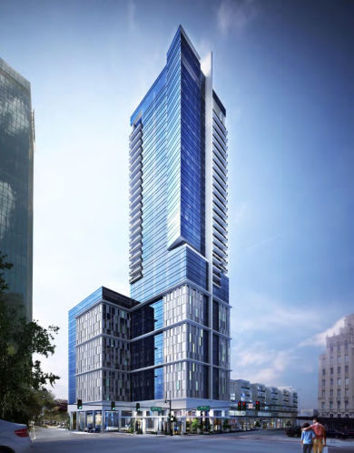 A render of Red Apple Group's 400 Central Avenue development proposal.
