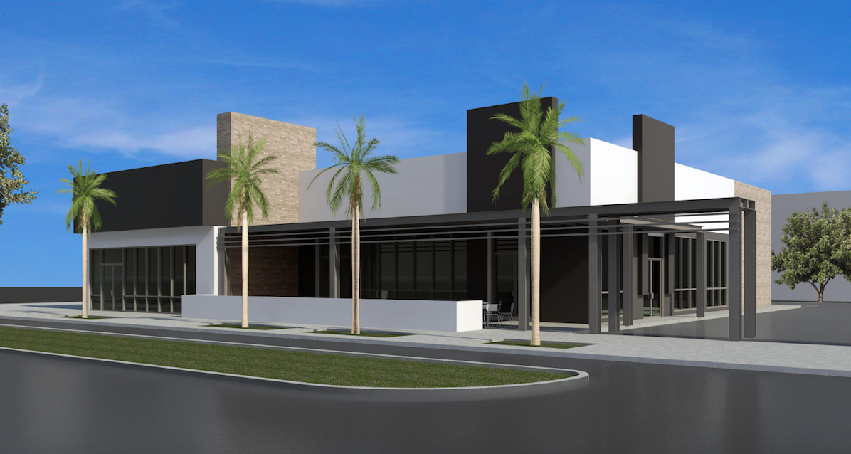 rendering of new orangetheory fitness and cafe under construction at 650 1st ave s