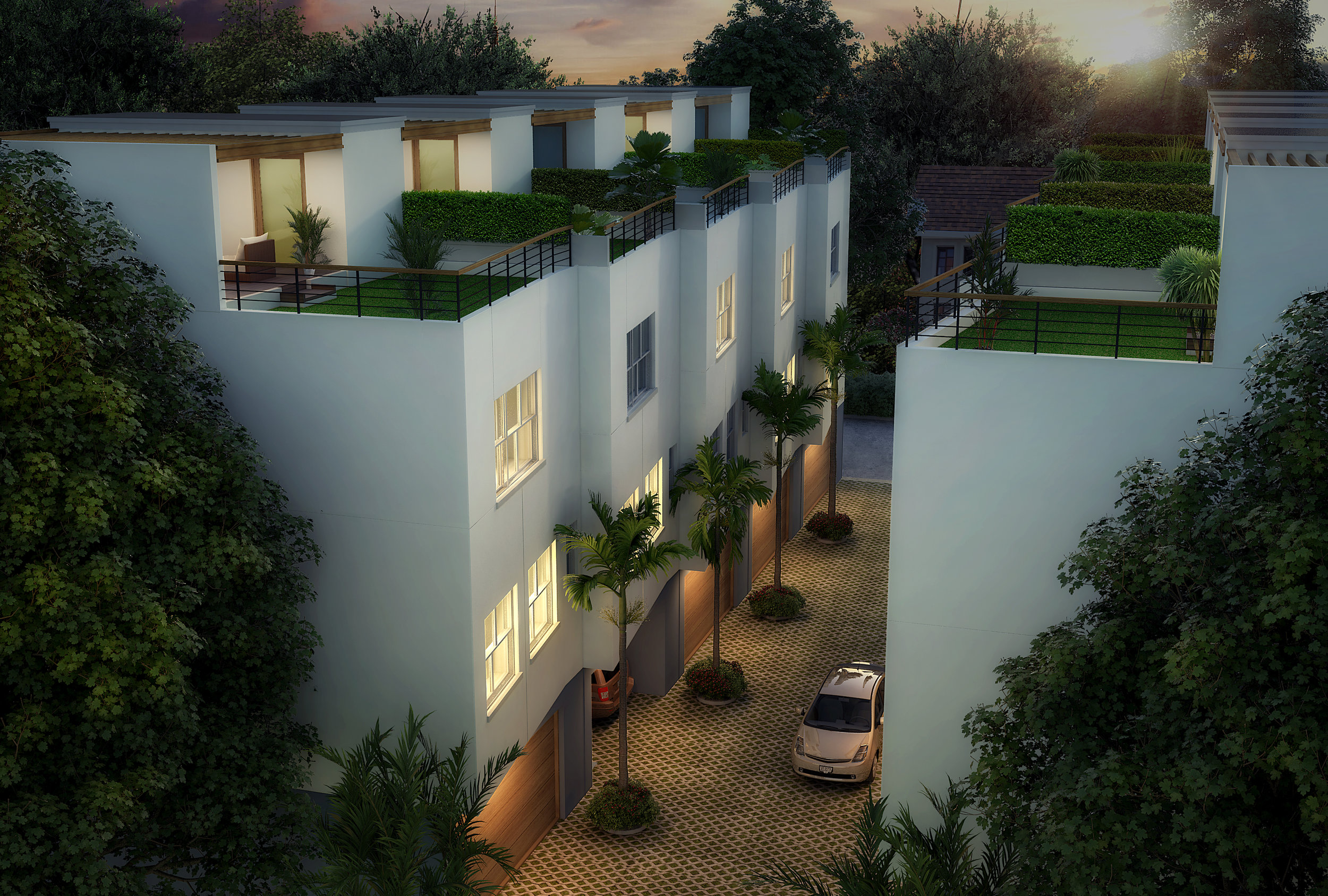 Rendering of the Fifth Avenue Townhomes
