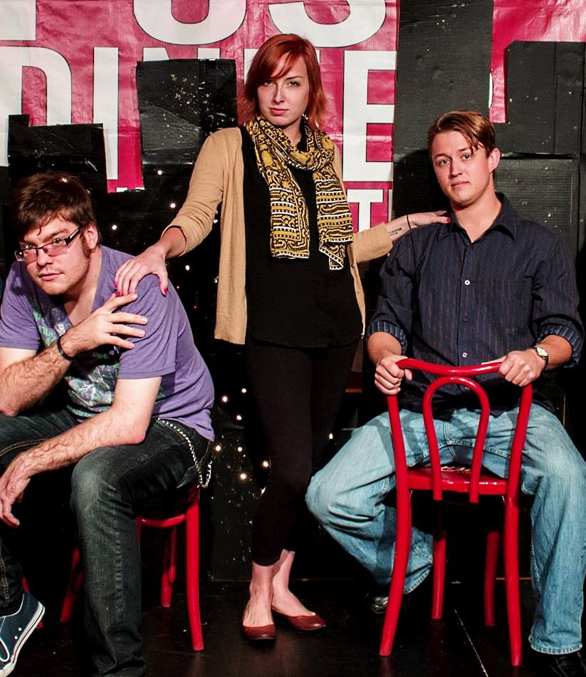 founders of unscripted theatre -- WARREN BUCHHOLZ, HANNAH PRINCE, and Nicholas Riggs