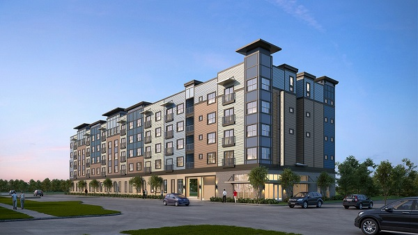 Burlington Place, a 53-unit affordable apartment community being built in Historic Kenwood