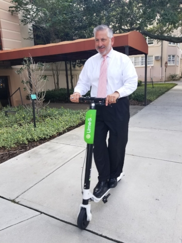 Mayor Kriseman was recently spotted riding a Lime scooter in front of City Hall.