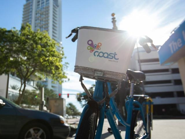Coast Bikes can be found at over 40 hubs throughout the greater Downtown St. Pete area.