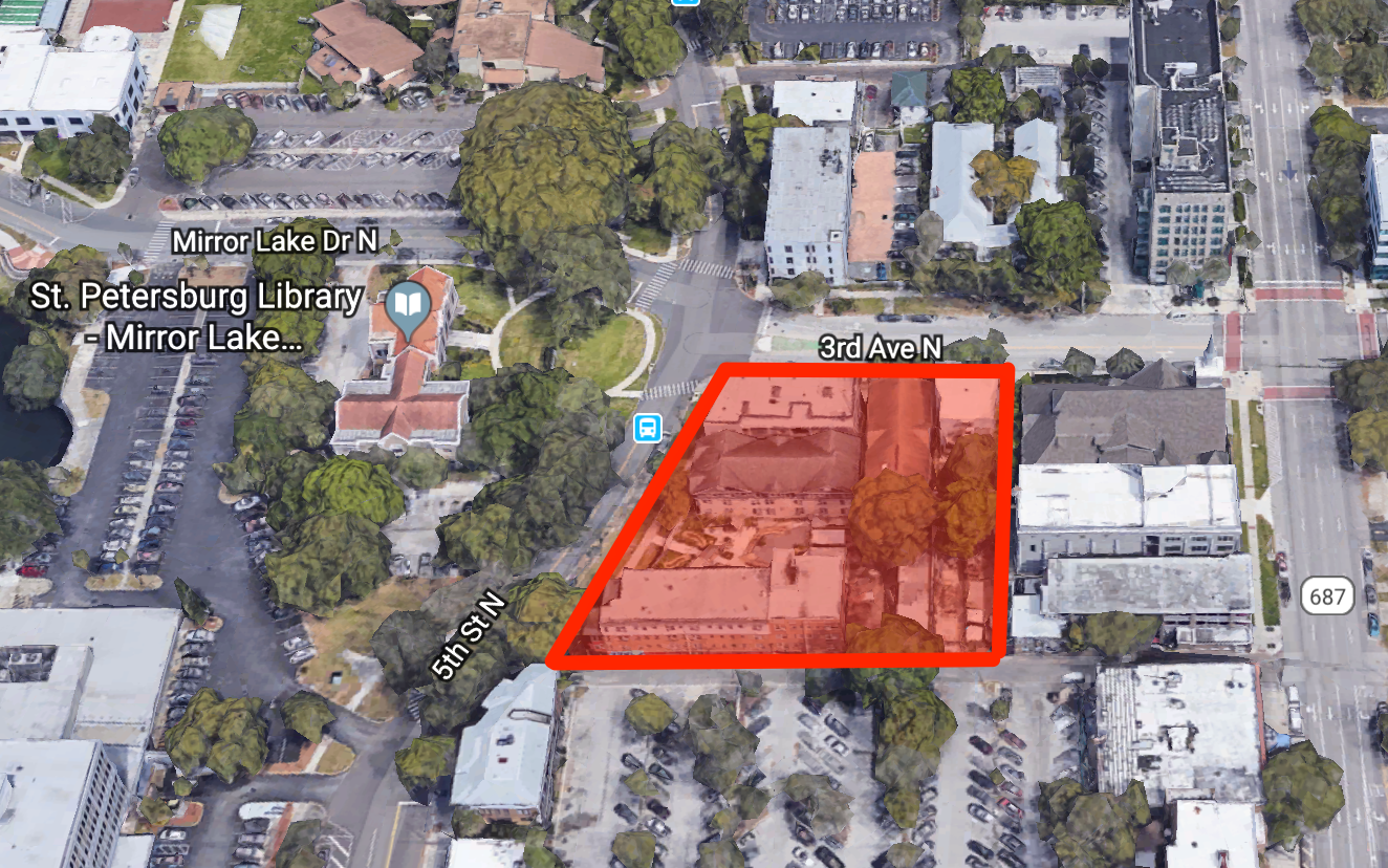 The proposed building will be located at the southeast corner of 3rd Avenue North and 5th Street North