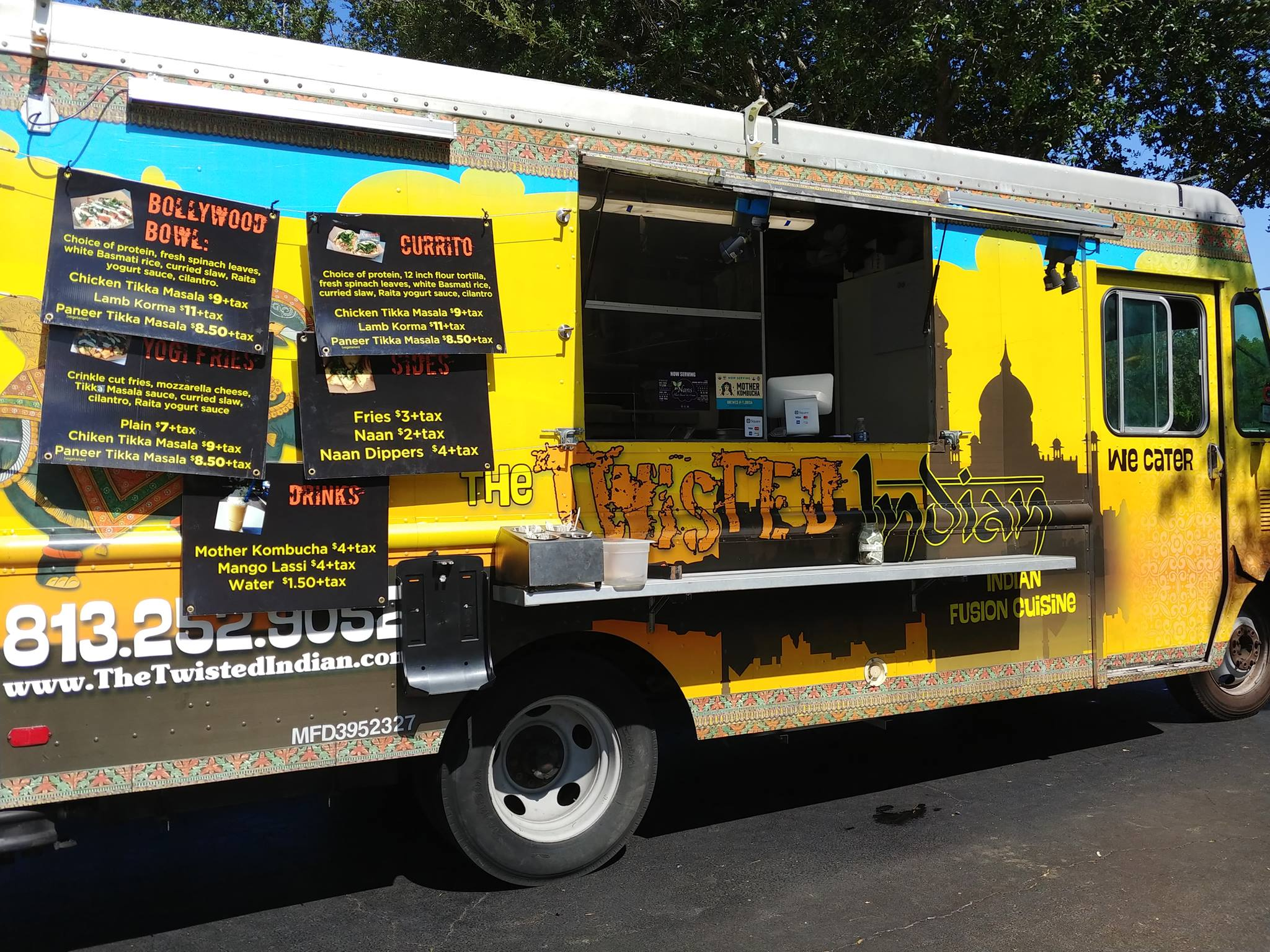 The Twisted Indian Food Truck. Available Every week at the Saturday Morning Market in Downtown St Pete
