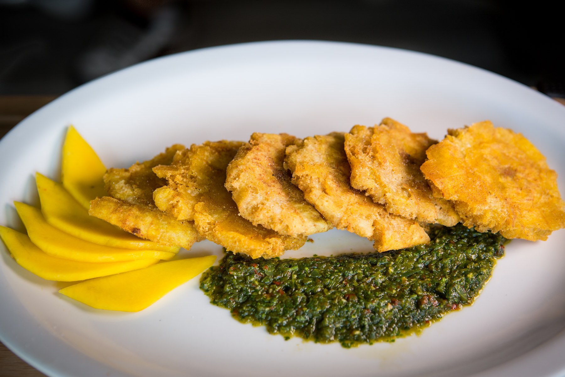 Tostones (mashed plantains) from WEPA!
