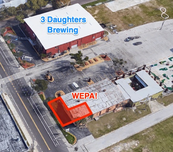 Wepa is Located at 2149 3rd Ave South, directly across the street from 3 Daughters Brewing.