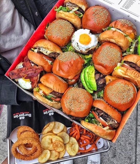 Burgerim offers mini burgers in a 2-pack, 3-pack, or 16-pack.