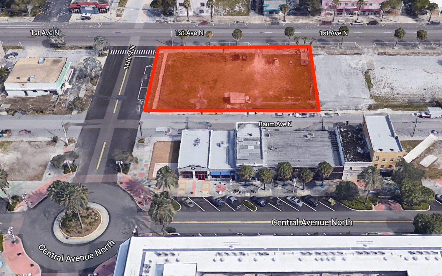 The EDGE Hotel will be located on a currently vacant lot at the southeast corner of 1st Avenue North and 11th Street North.