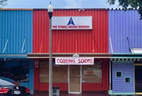The Pinball Arcade Museum will be located at 2313 Central Avenue in The Grand Central District of Downtown St Petersburg