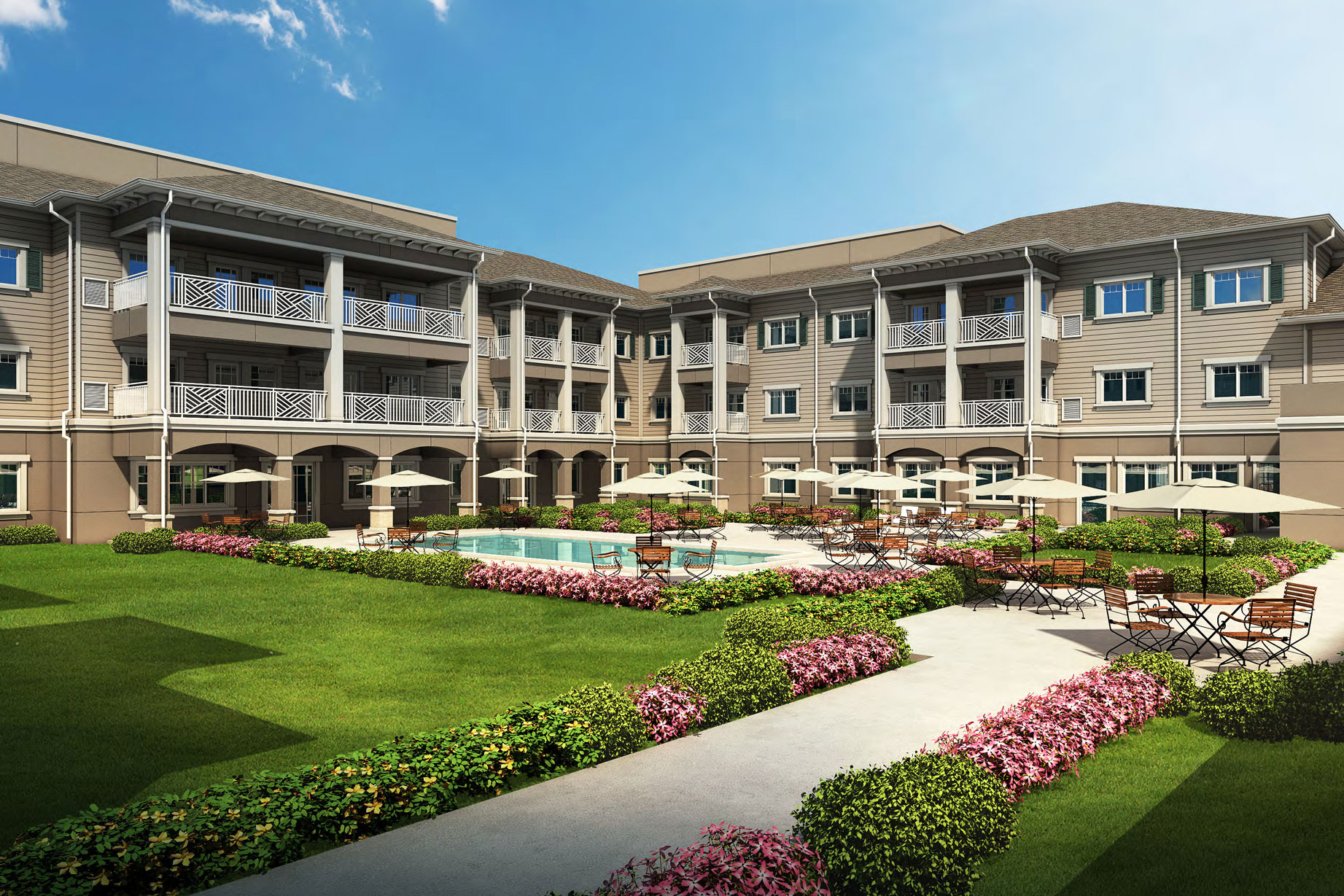 The American House St Petersburg consists of 33 Memory Care, 66 Assisted Living and 66 Independent Living Units for a total 165 units over 169,755 sf