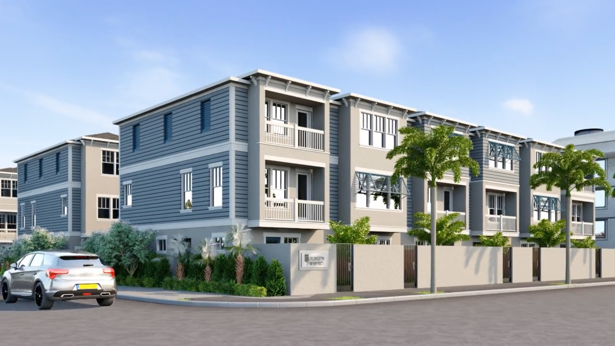 David Weekley Homes is developing the Burlington Townhomes at the northwest corner of Burlington Avenue and 8th Street in Downtown St. Pete.
