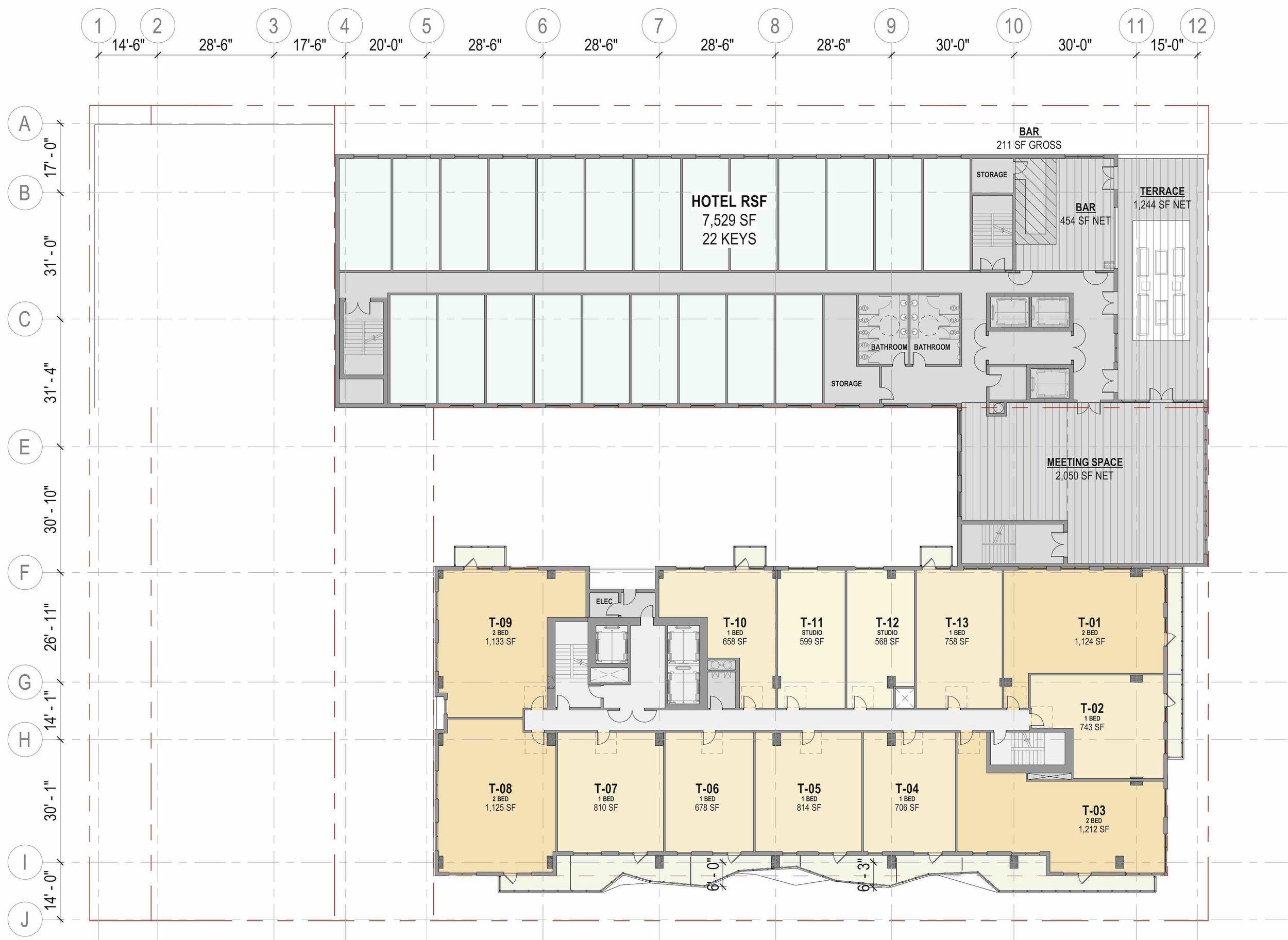 Site Plan - 8th Floor (Hotel Amenities)