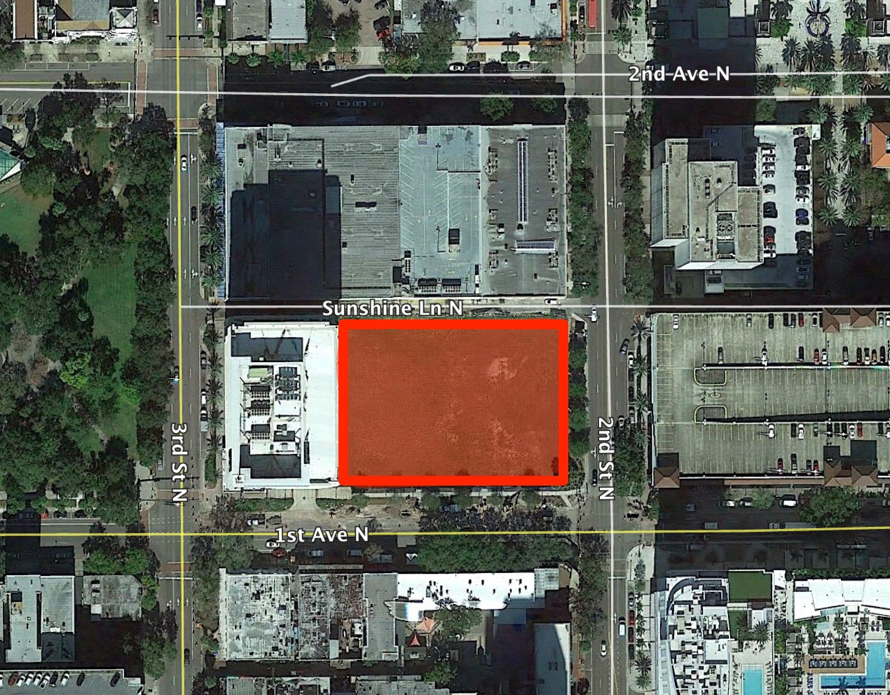 Ascent St Petersburg has been proposed for 225 1st Avenue North, the site of two previous development proposals, the Halcyon and the Grand Bohemian Hotel & Residences.