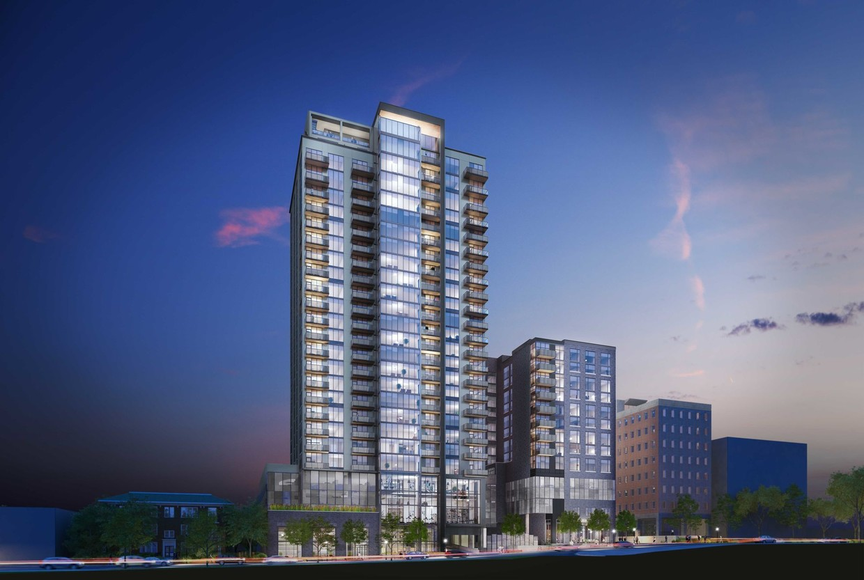 Greystar's Ascent Midtown, while different in design, features a similar project with 328 apartments and a 176-key Canopy by Hilton hotel.