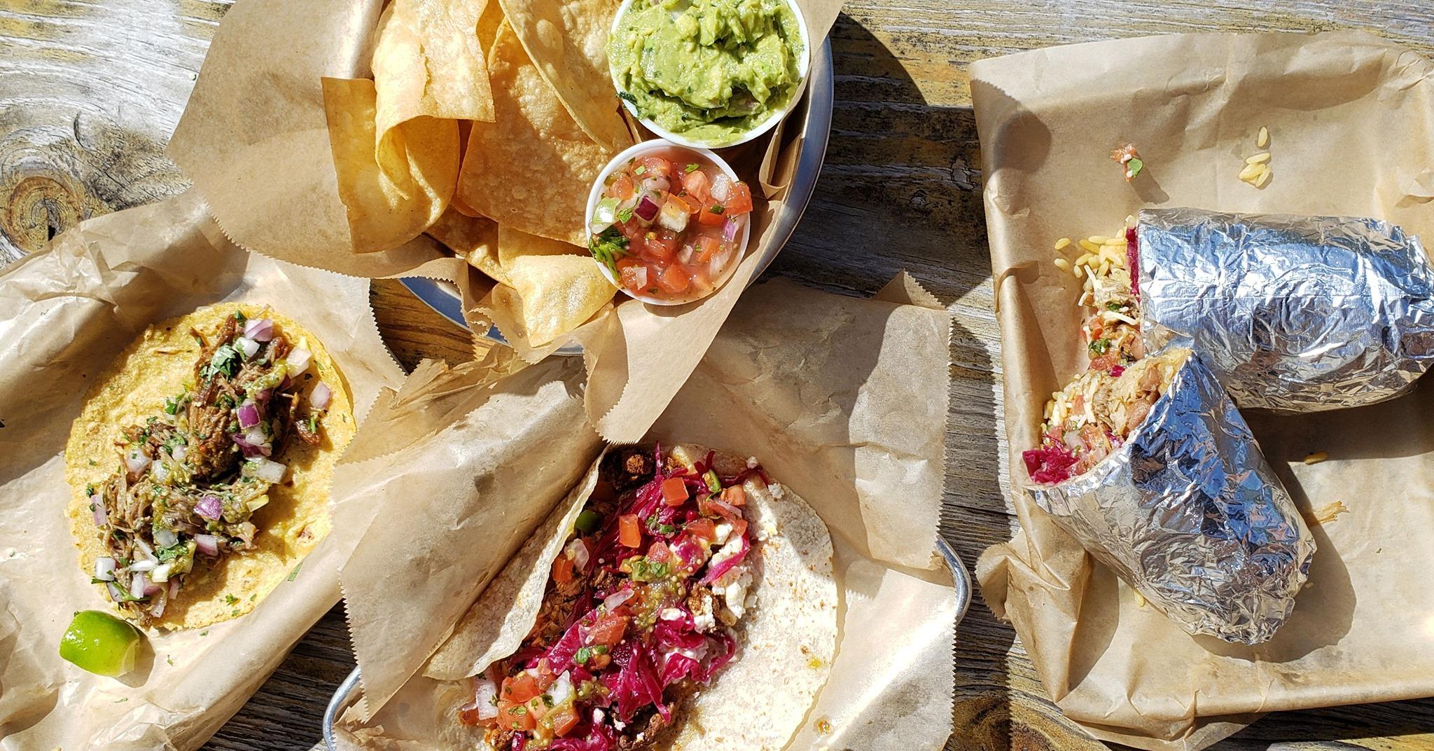 Poppo's Taqueria's menu' is simple, offering build-your-own tacos, burritos, quesadillas, or bowls.