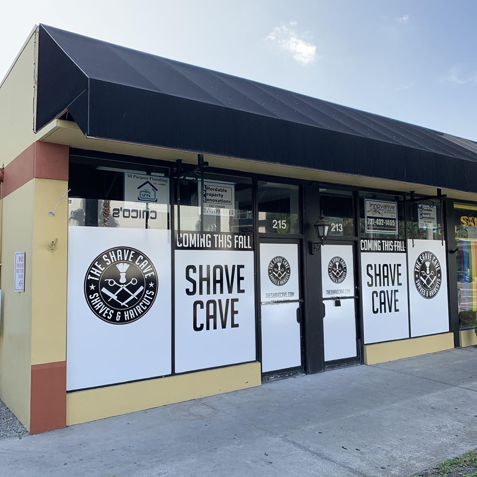 Shave Cave's new, larger location at 215 1st Street North in DOwntown St Petersburg