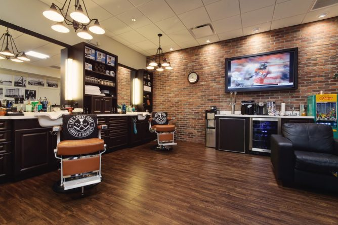 The Shave Cave's current 900 square foot location in the Sundial Shopping complex 121 2nd Avenue North