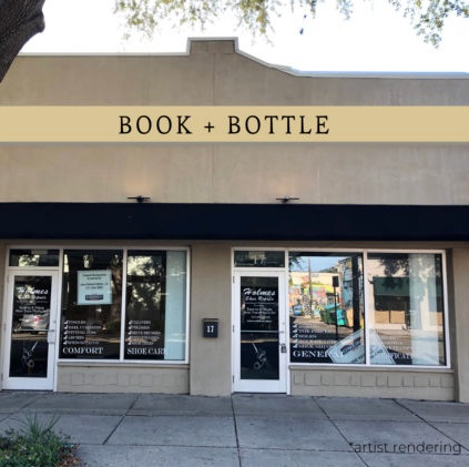 Book + Bottle will be located at 17 6th Street North, formerly Holmes Shoe Repair, right behind Wig Villa off Central Avenue.