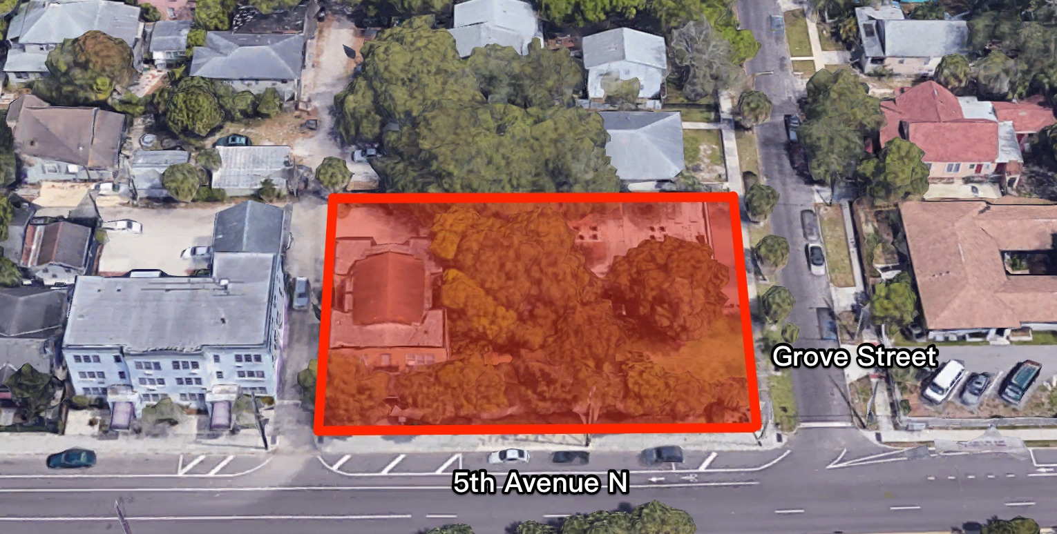 The Butterfly Apartments will be located at the northwest corner of 5th Avenue North and Grove Street.