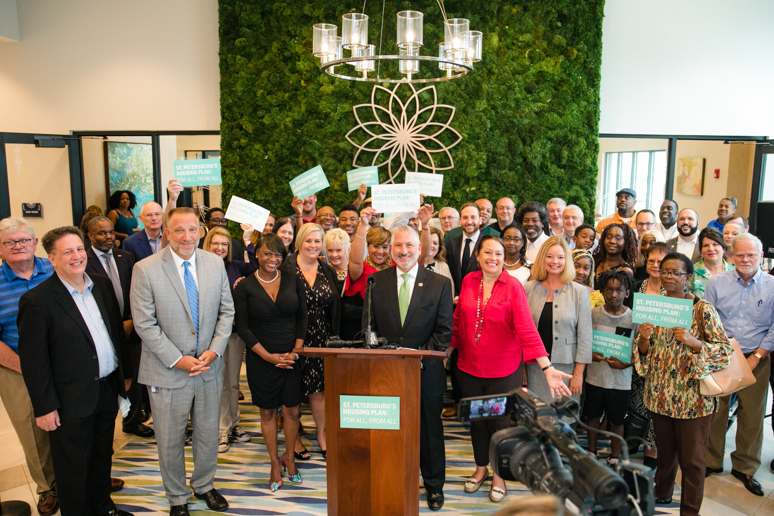 In July, Mayor Kriseman was joined by members of City Council to announce a 10-year, $60M affordable housing plan. Land Development Regulation changes are part of the city-wide effort.