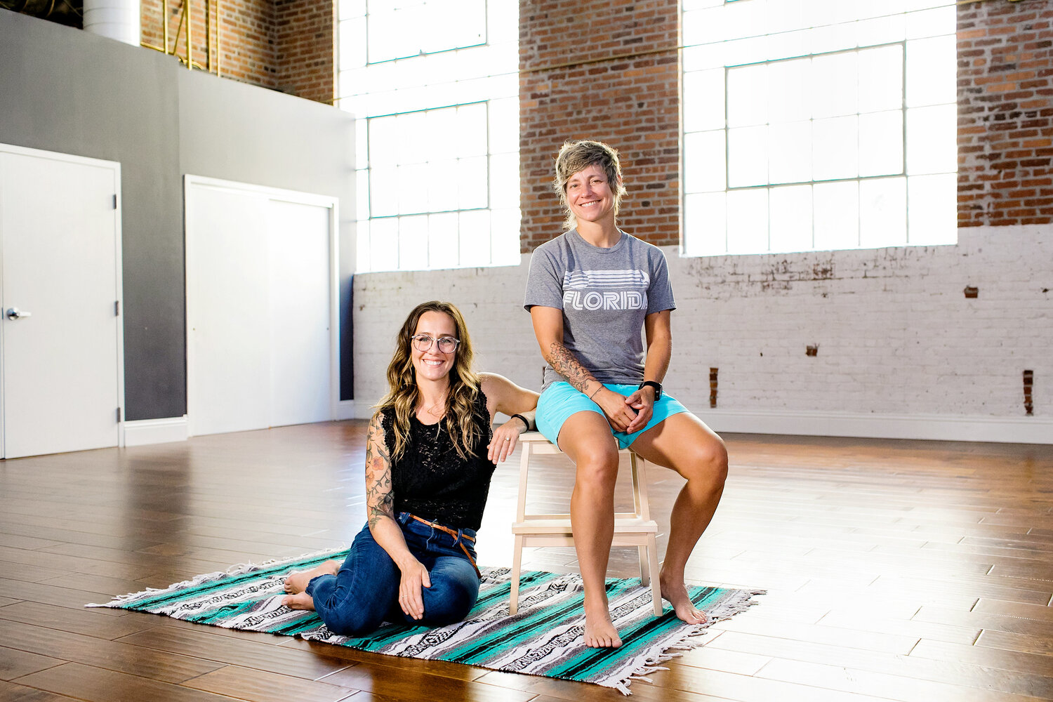 Owners of the Body Electric Yoga Company, Jenny Miller (Right) and Katelyn Grady (Left). Photo Credit City of St Petersburg