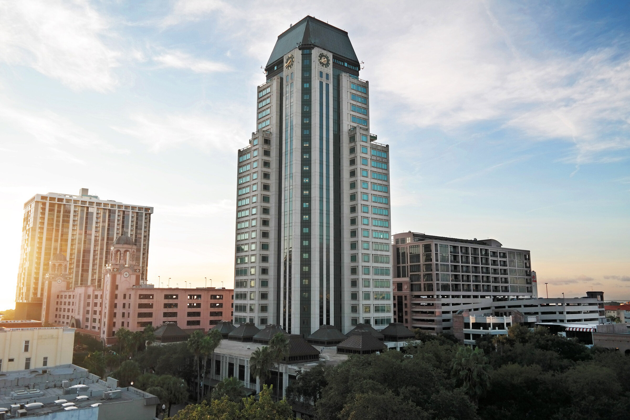 200 Central, a 26-story office tower, located at 200 Central Avenue is the tallest office building in St. Petersburg.