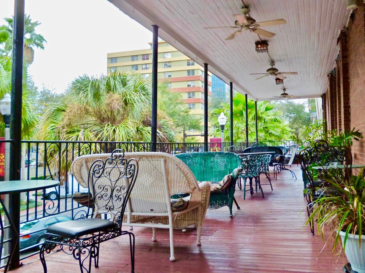 Sauvignon's new Orleans-style Balcony overlooking Central Ave in Downtown St Pete