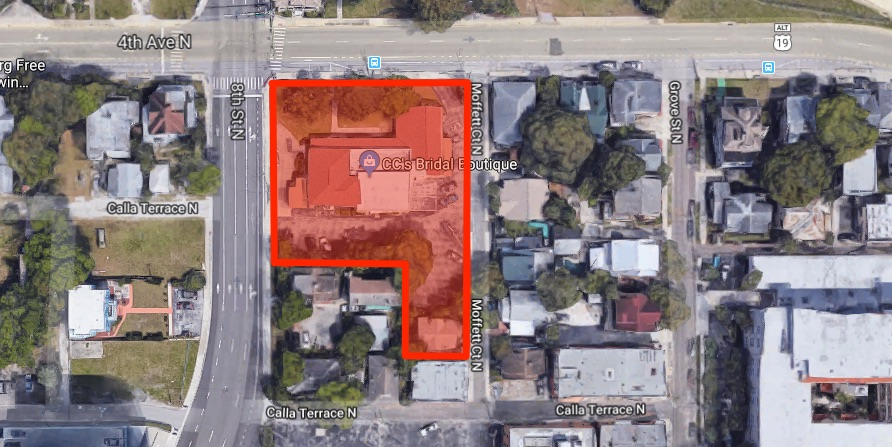 According to documents filed with the City, a seven-story apartment building has been proposed for the southeast corner of 4th Avenue North and 8th Street.