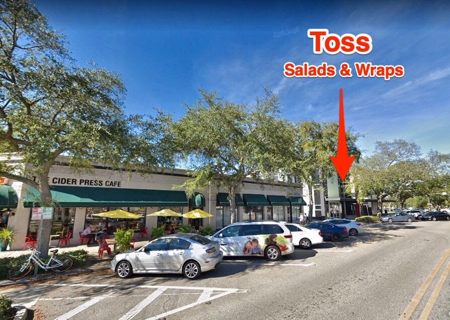 TOSS: Salads & Wraps is located just off of Central Avenue at 600 1st Avenue Norh in Downtown St Pete