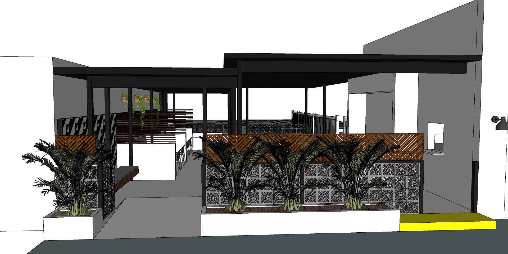Wild Child will have a covered outdoor patio and bar for those hot summer days and nights