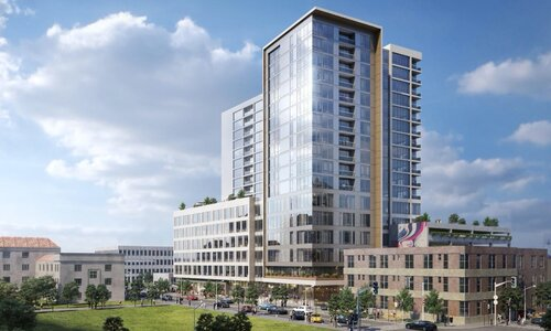 PMG / Feldman's updated proposal includes a revised building on 2nd Avenue North with more residential units and potentially more office space.