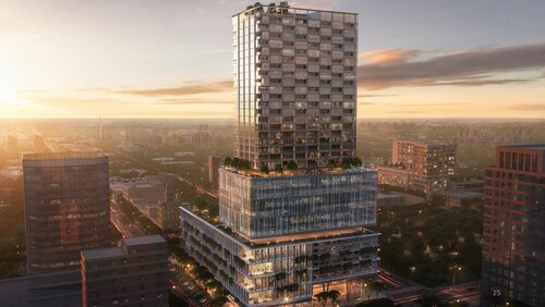 PMG / Feldman have proposed a striking building for the Central Avenue site which is designed by Gensler, a renowned architecture firm.