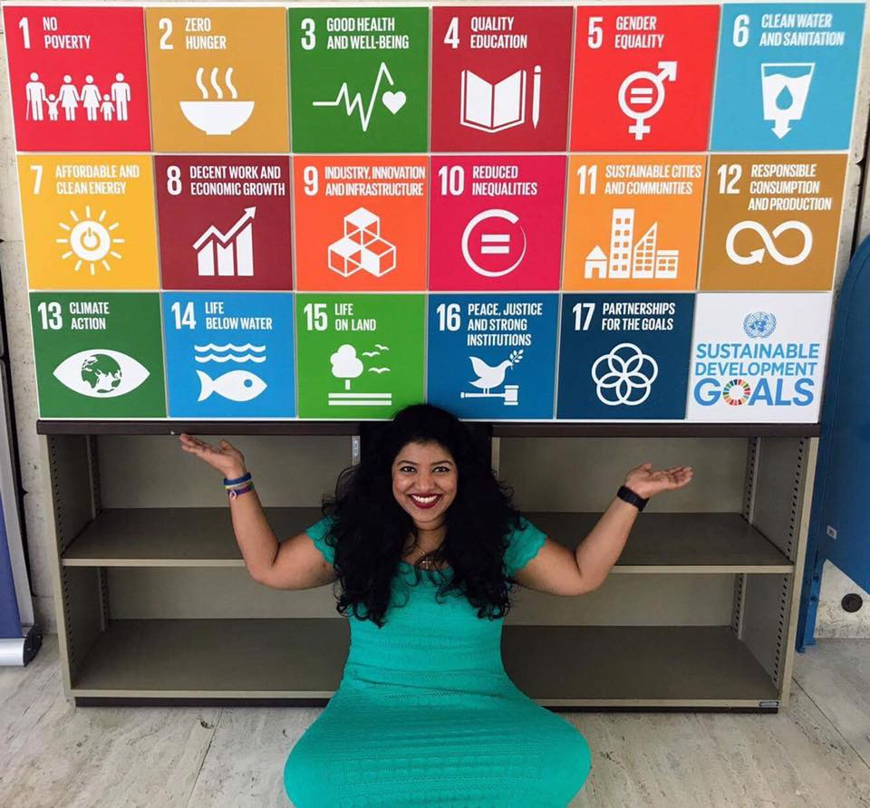 Hiba T. George, representing the Global Shapers Orlando Hub, on the last day of the Annual Curators Meeting 2017 held at the United Nations Office at Geneva. #ACM17