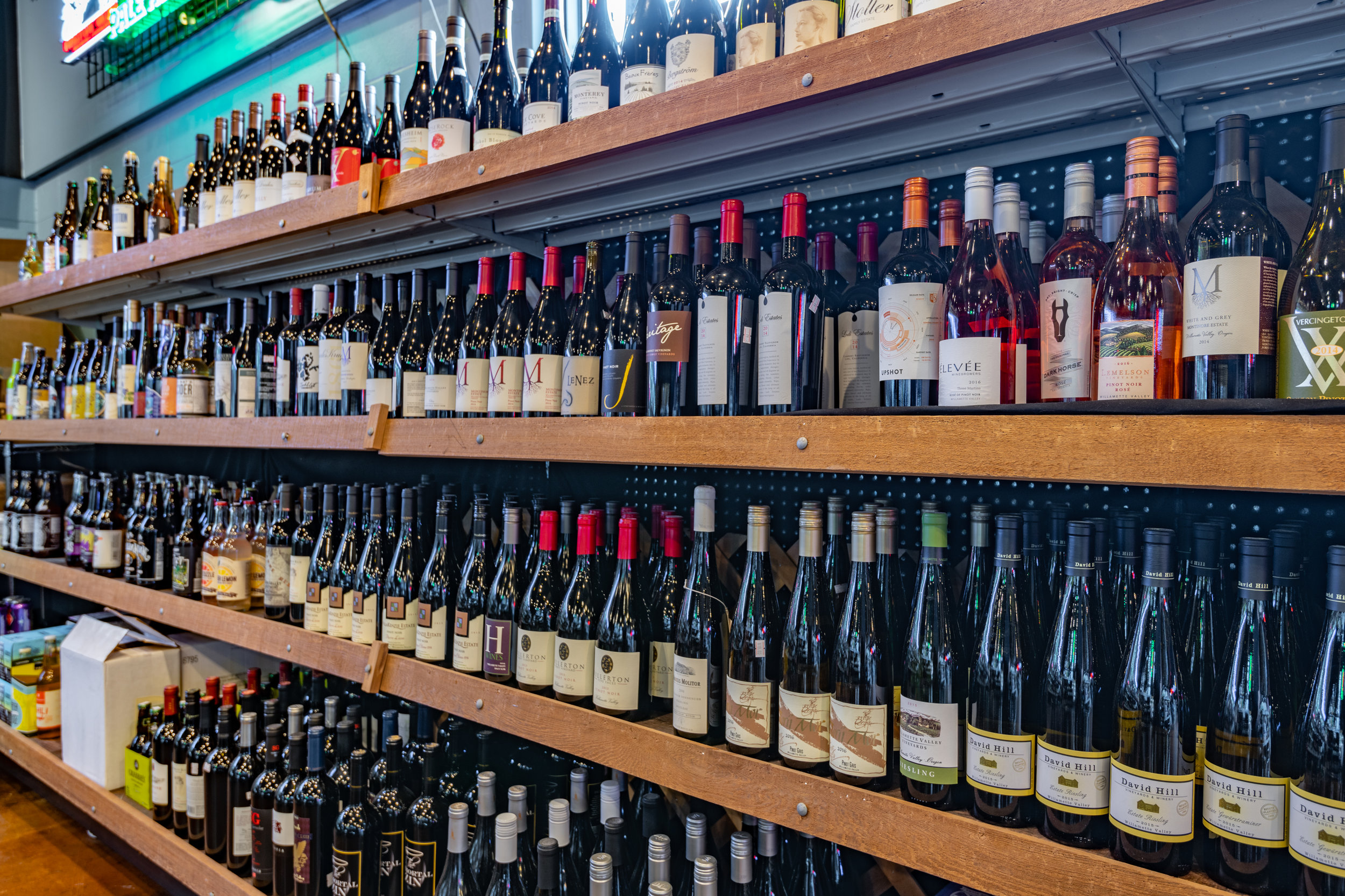 Great Wine Selection and rotating  wines by the glass
