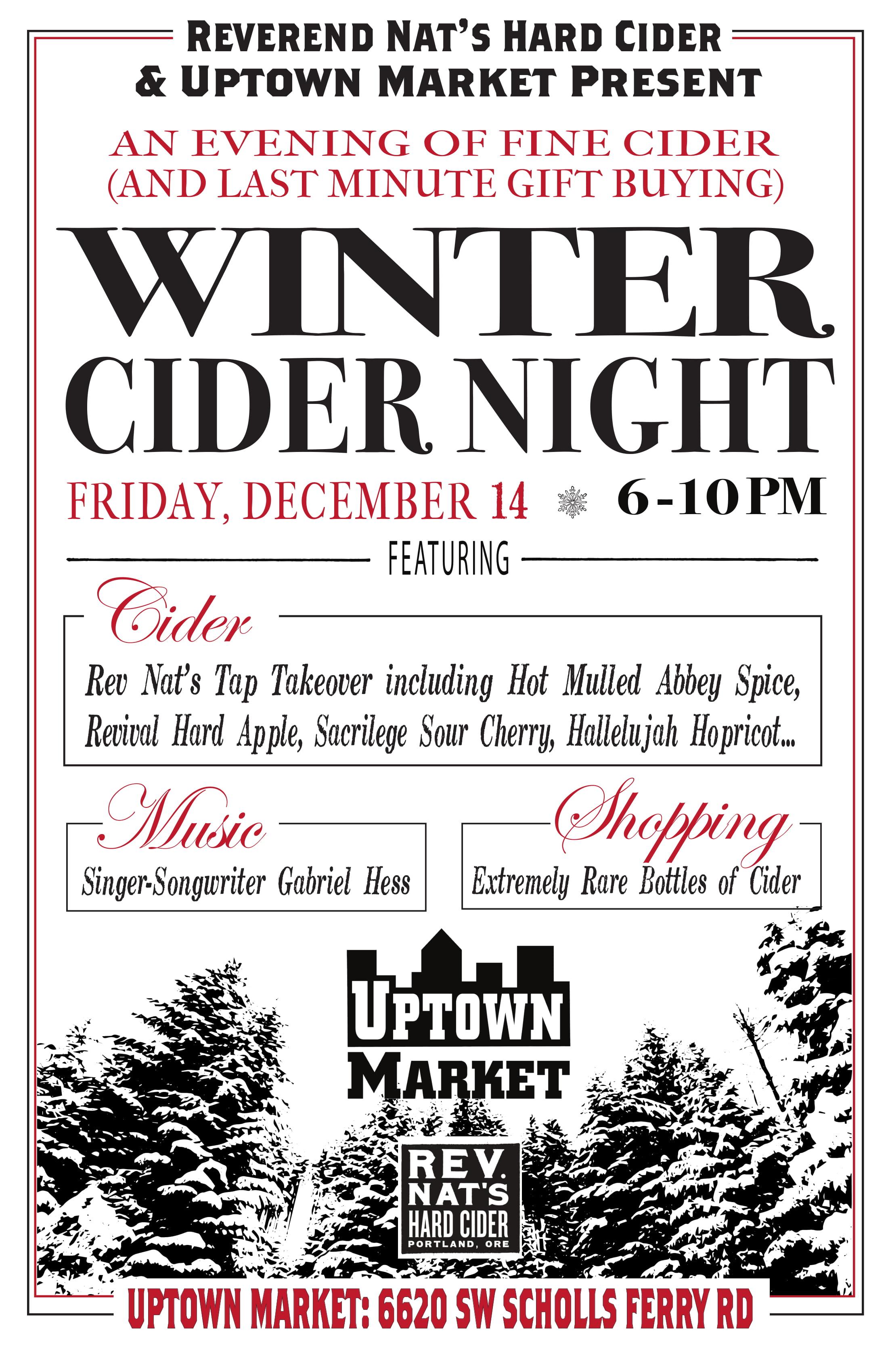 Rare bottle sale, Live music, and mulled Cider!  A winter cider celebration!