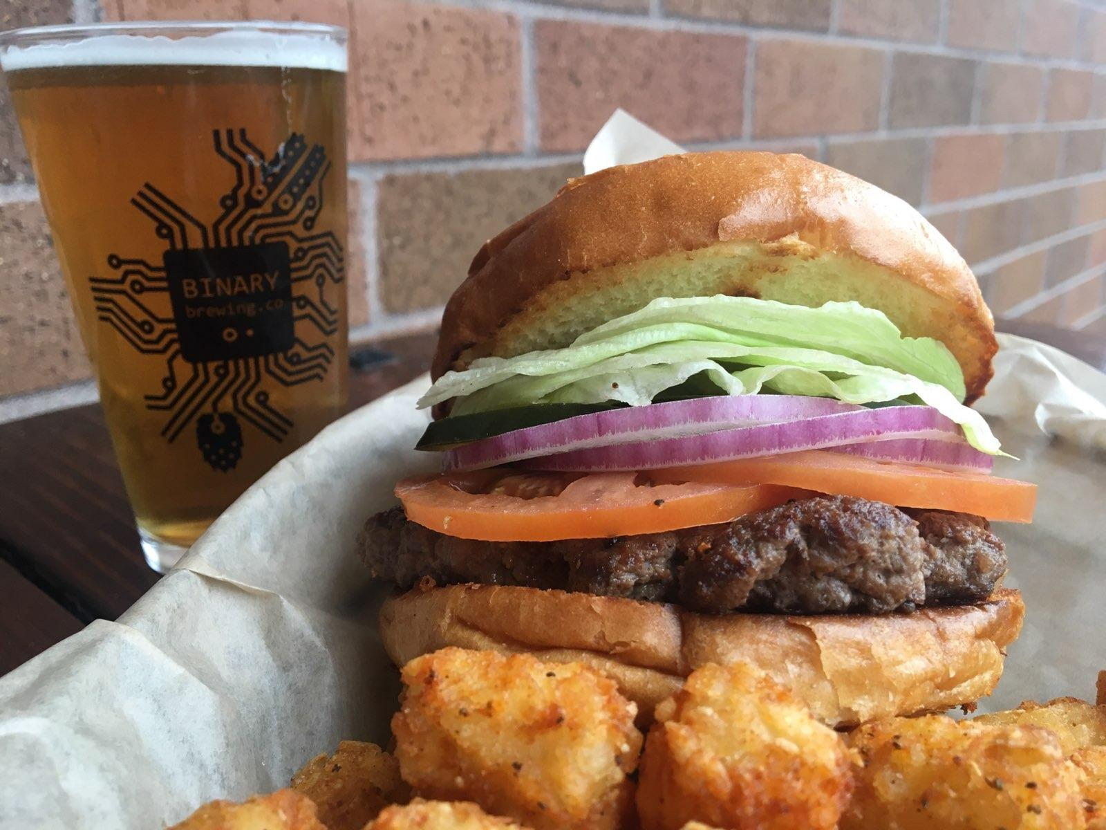 Burger and Beer, great any day, but only $10 on Mondays