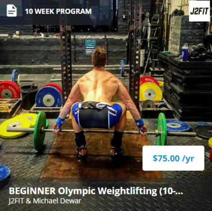 Beginner Olympic Weightlifting Program