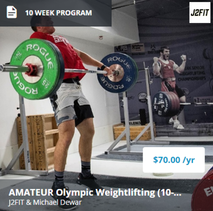 10-Week Kickstarter Plus - This 10-week beginner and intermediate level program includes:- Squat strength (both back and front) emphasis.- Pulling strength (snatch, clean, and general assistance lifts) emphasis.- A wide array of snatch, clean, and jerk variations to help progress and develop technique and confidence in a wide spectrum of exercises.- The program is set to address individual components of each lift, with the end goal to combine them into the full snatch and clean and jerk.