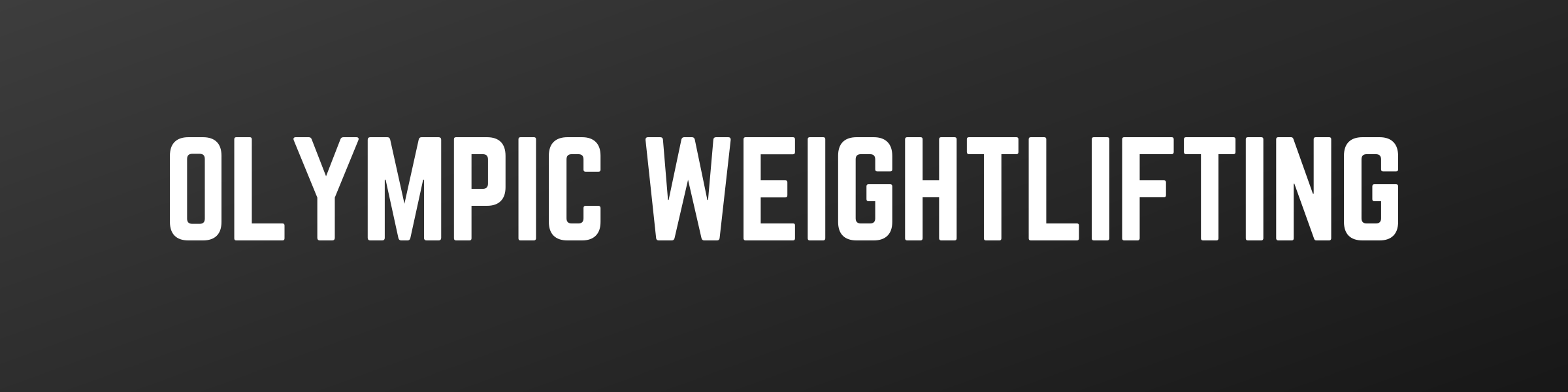 olympic weightlifting programs
