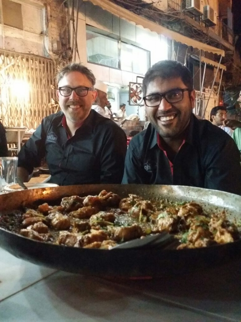 Dinner after a successful talk in Lahore